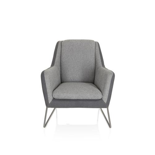 LAGUN | 1-Sitzer - Loungesessel Hellgrau / Dunkelgrau