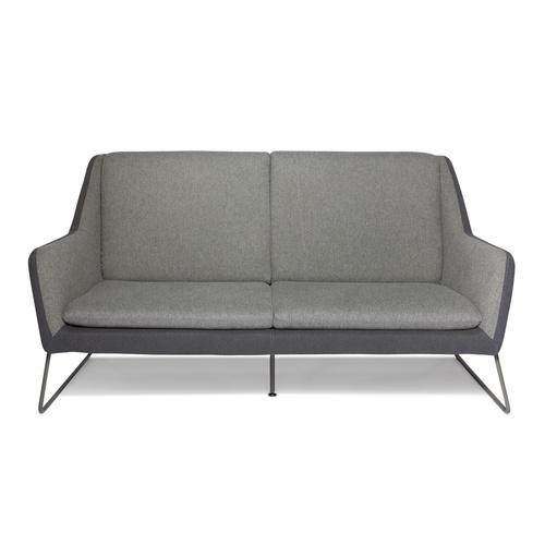 LAGUN | 2-Sitzer - Lounge Sofa Hellgrau / Dunkelgrau