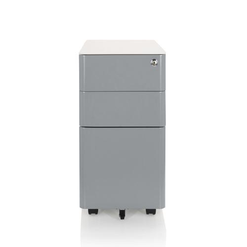 COLOR I - Rollcontainer Weiß / Grau
