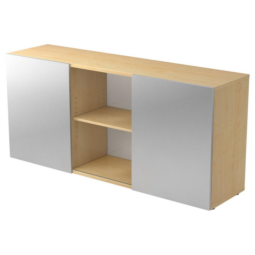 KAPA 1780 | Sideboard | mit Schwebetüren - Ahorn/Silber Sideboard