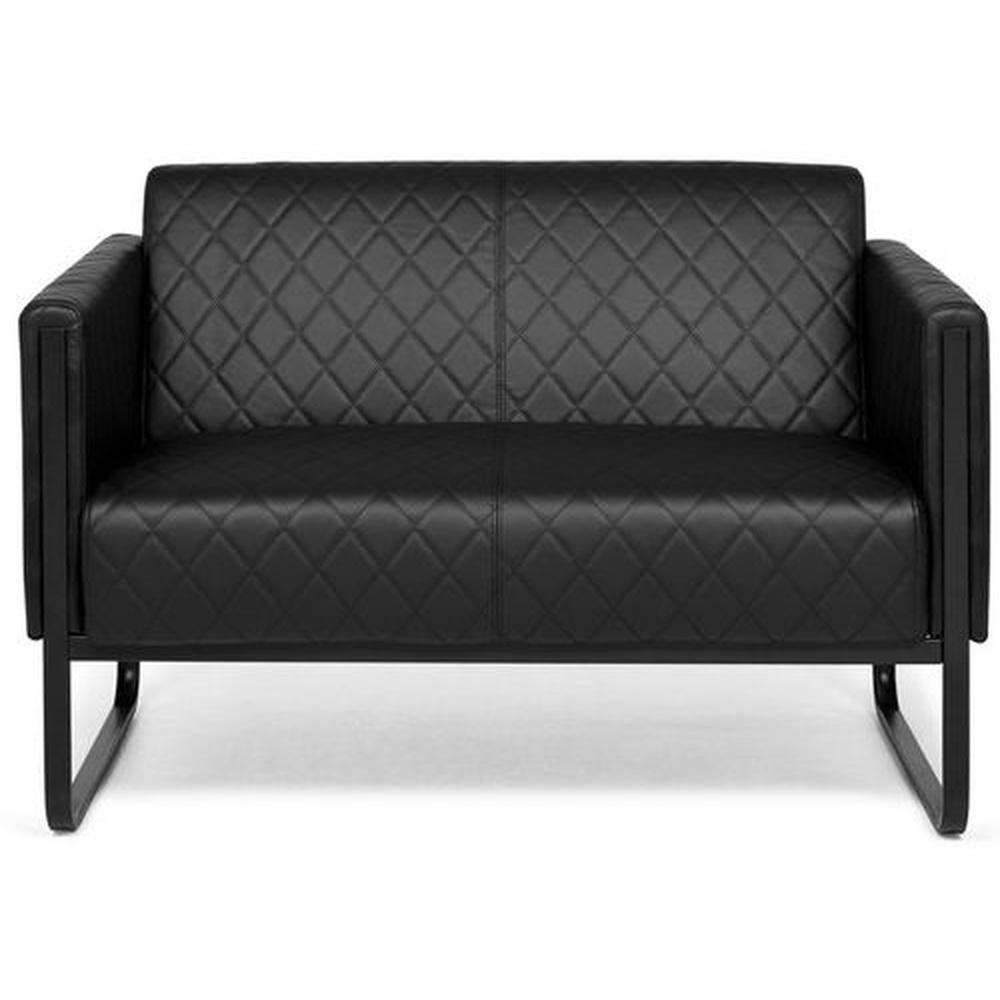 ARUBA BLACK | 2-Sitzer - Lounge Sofa Schwarz