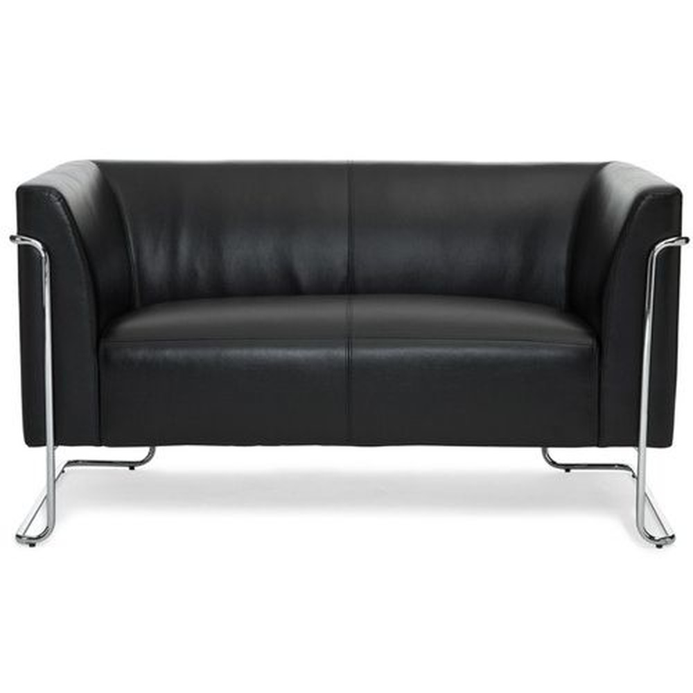 CURACAO | 2-Sitzer - Lounge Sofa Schwarz