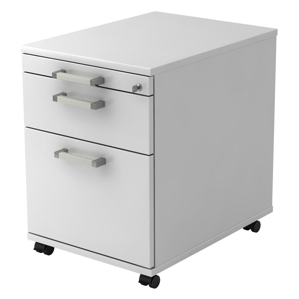 SIGNA AC20 CE - Rollcontainer Weiß mit Hängeregistratur Chromgriff Metall