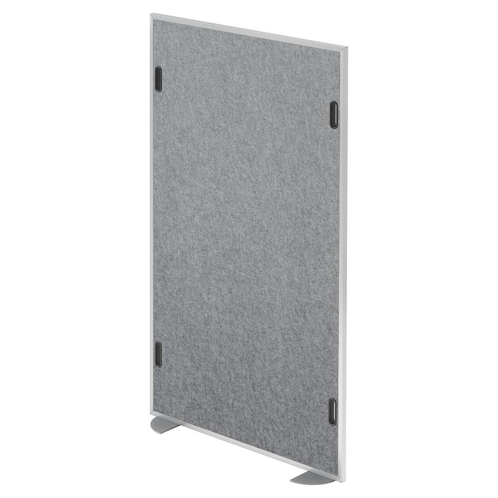 hjh OFFICE PRO ASW | Akustik-Stellwand | Mittelstück - Grau