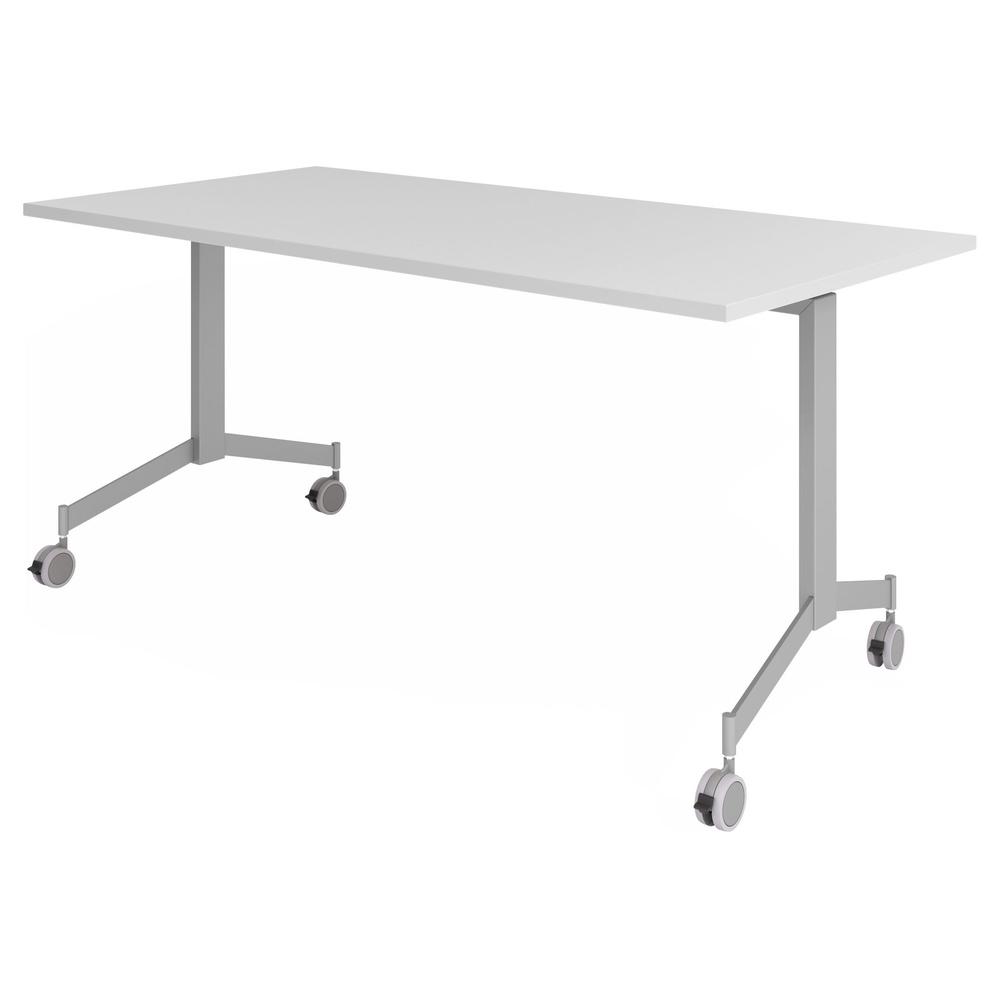 hjh OFFICE PRO KALA 16 | Klapptisch fahrbar | 160 cm | Silber - Konferenztisch Grau