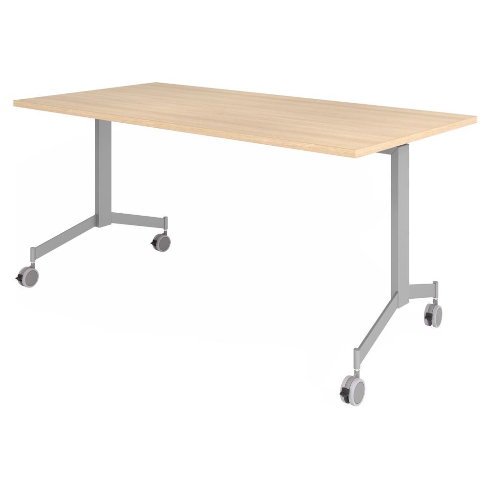 hjh OFFICE PRO KALA 16 | Klapptisch fahrbar | 160 cm | Silber - Konferenztisch Eiche