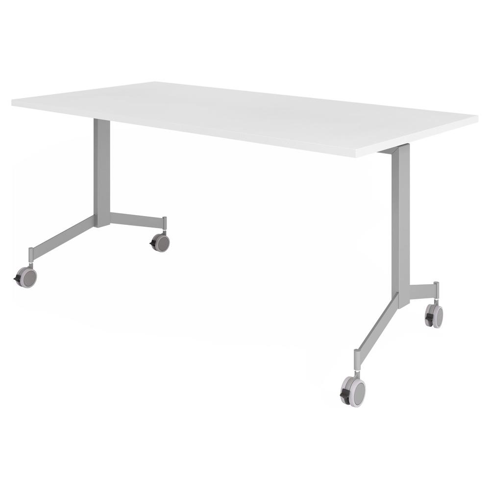 hjh OFFICE PRO KALA 16 | Klapptisch fahrbar | 160 cm | Silber - Konferenztisch weiss