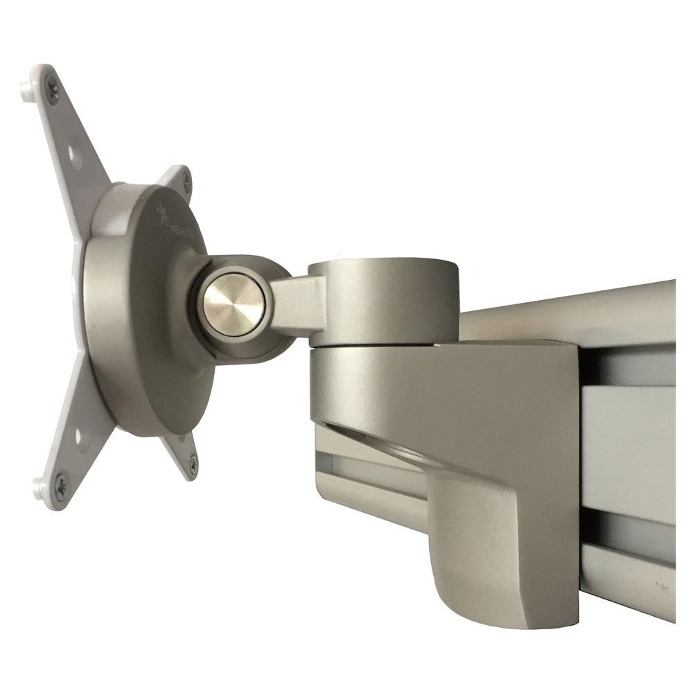 hjh OFFICE PRO ORGPD | ORGA Bildschirmhalter drehbar - Silber Orga-Bildschirmhalter