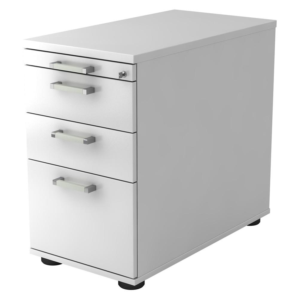 SIGNA SC40 CE - Rollcontainer Weiß mit Hängeregistratur Chromgriff Metall