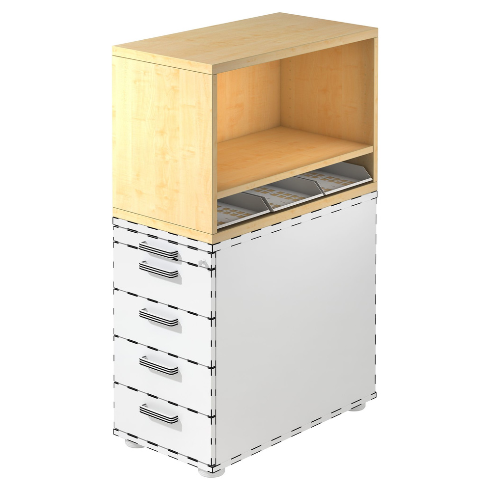 SIGNA SCA1 - Rollcontainer Ahorn