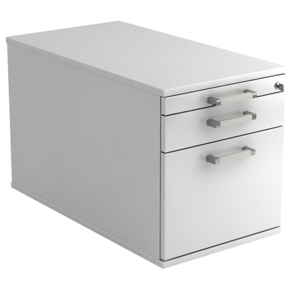 SIGNA TC20 CE - Rollcontainer Weiß mit Hängeregistratur Chromgriff Metall